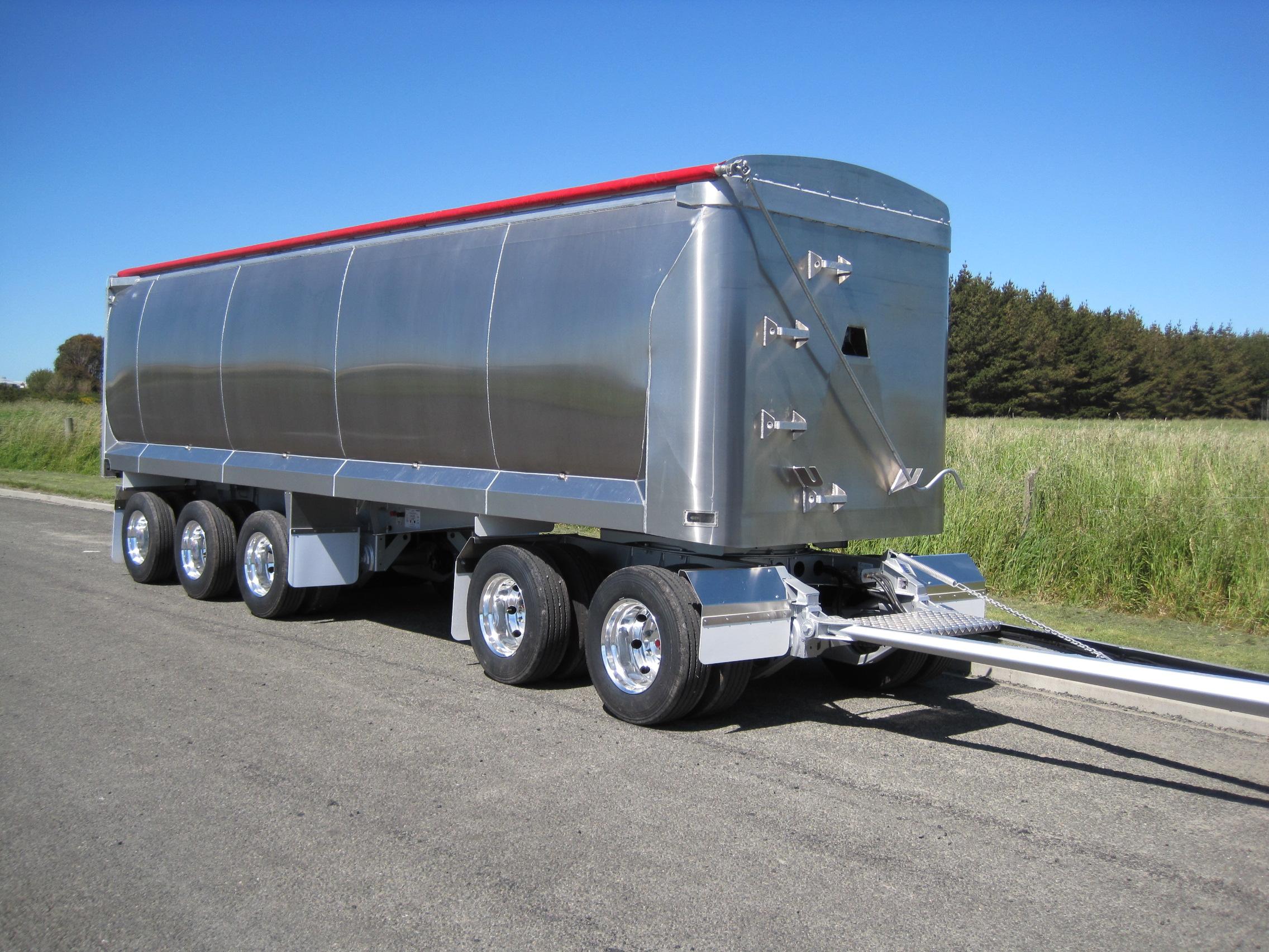 TES - Transport Engineering Southland   5 Axle alloy   Bathtub trailer