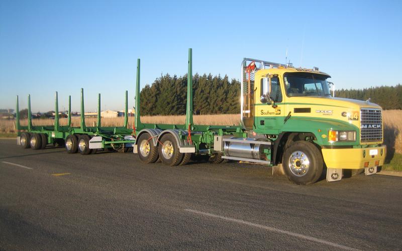 TES - Transport Engineering Southland   Logging Trailer